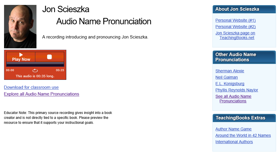 Author Name Pronunciation Guide – Info Cafe