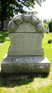 Copy of Augustus Wentz Headstone