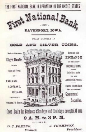 Image from a 1876 Davenport Business Directory
