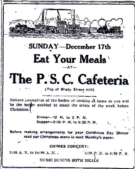 17Dec1922 PSC Cafeteria