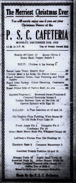 20Dec1922 PSC Cafeteria