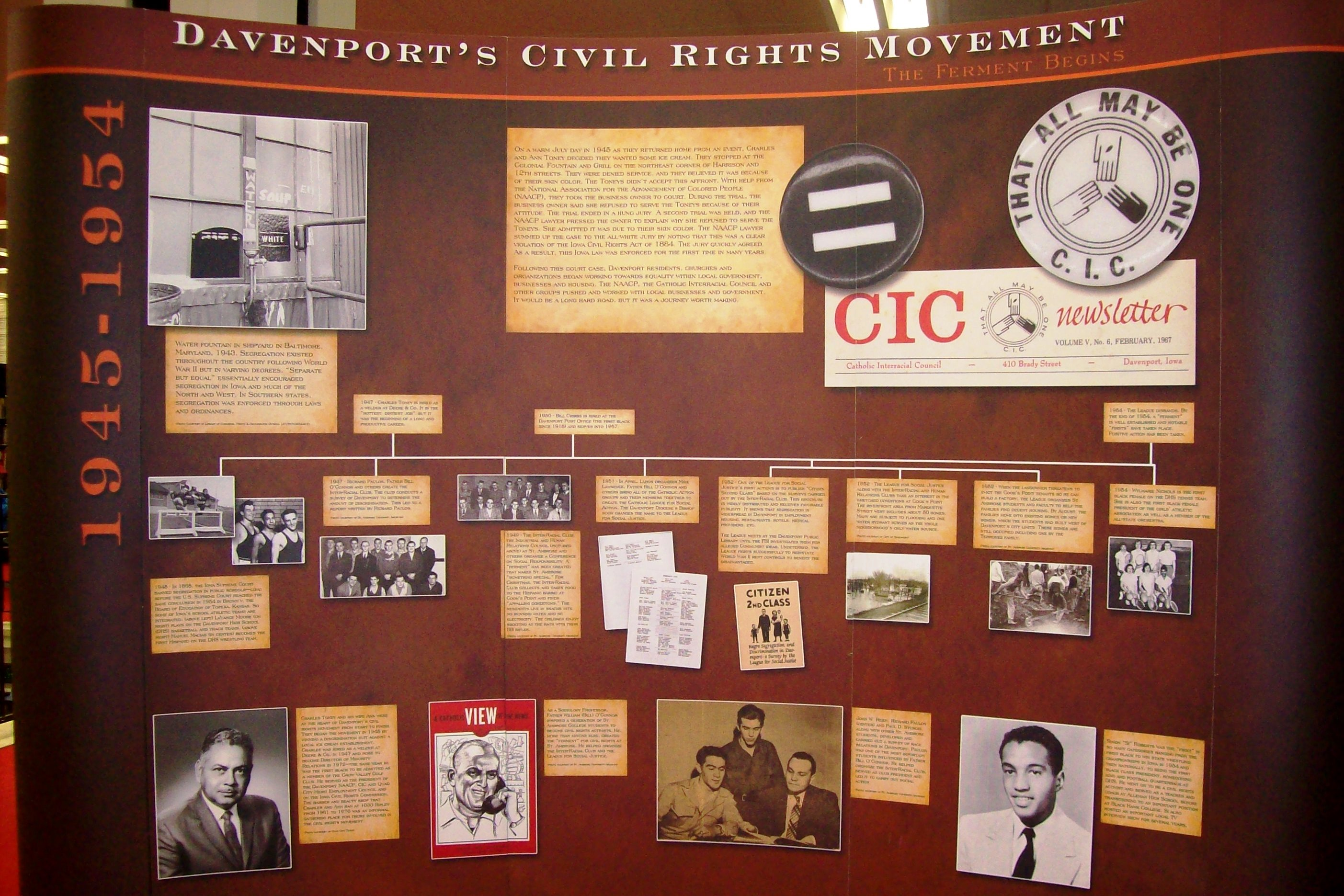 Davenport Civil Rights exhibit on display at the Main Street Library