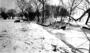 Duck Creek Park, 1934 -- not a record breaker, but still cold!