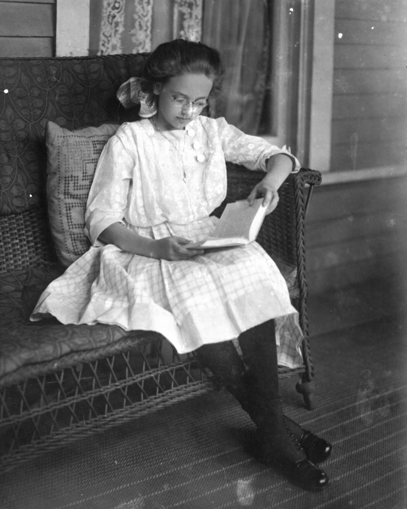 Catherine Marshall, daughter of W. H. Marshall. Photograph taken by J. B. Hostetler ca. 1910.