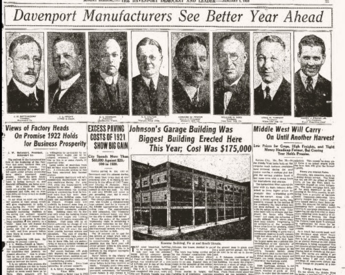Headlines Manufacturing  1Jan1922