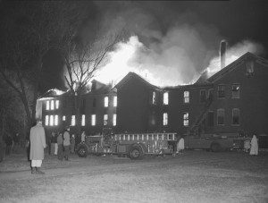 St. Elizabeth's on Fire with trucks