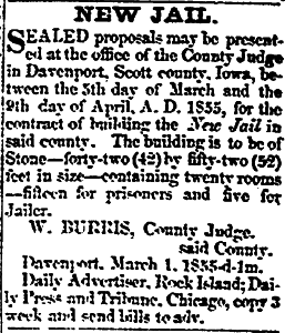 Davenport Daily Gazette March 28, 1855