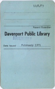 DPL Library card, ca. 1971