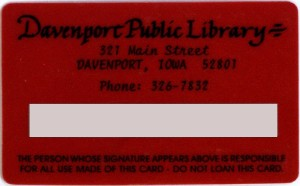 DPL Library card, ca. 1990's