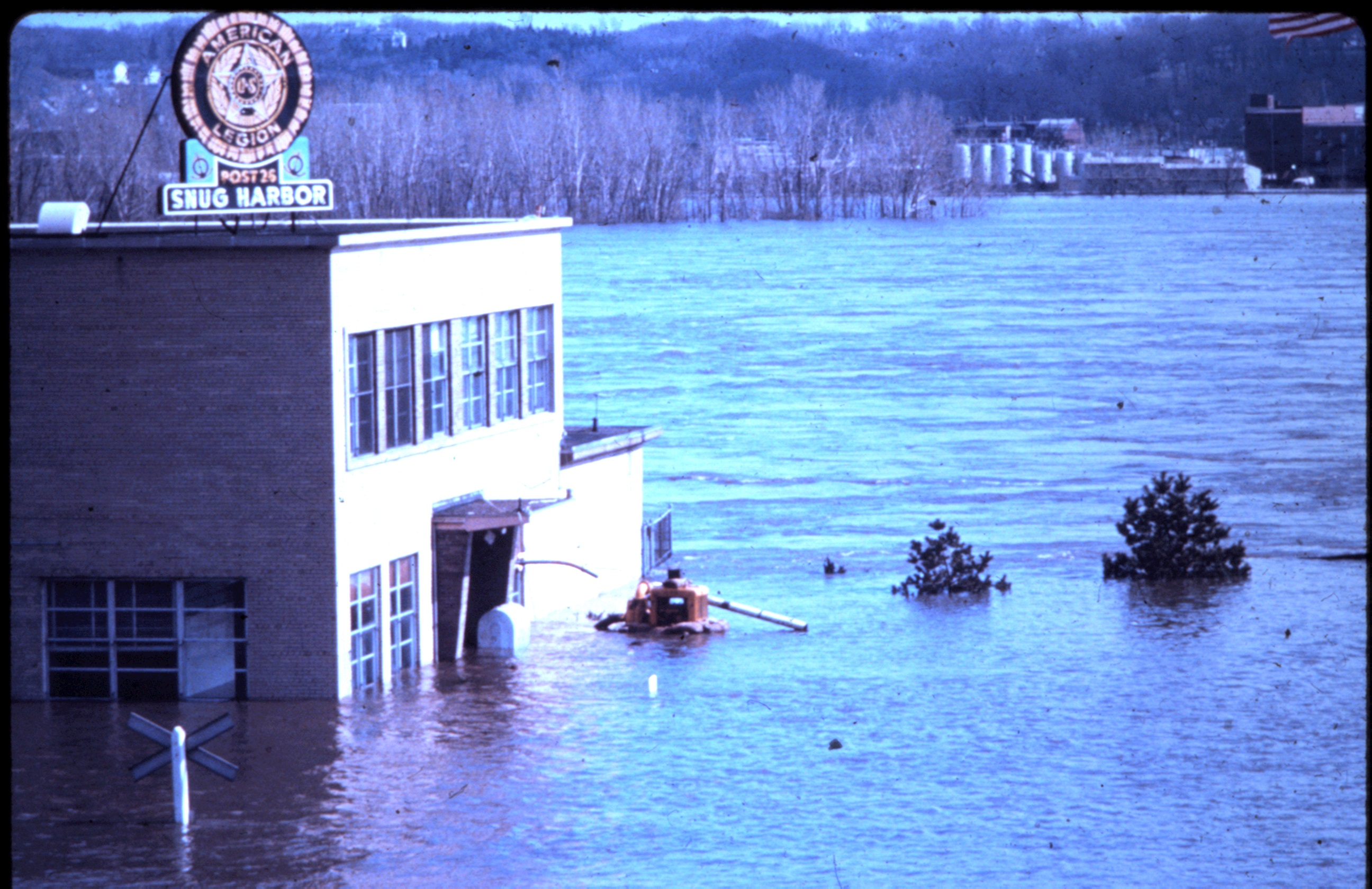 """Snug Harbor"", Davenport's American Legion riverside headquarters, suffered thousands of dollars in flood damage."