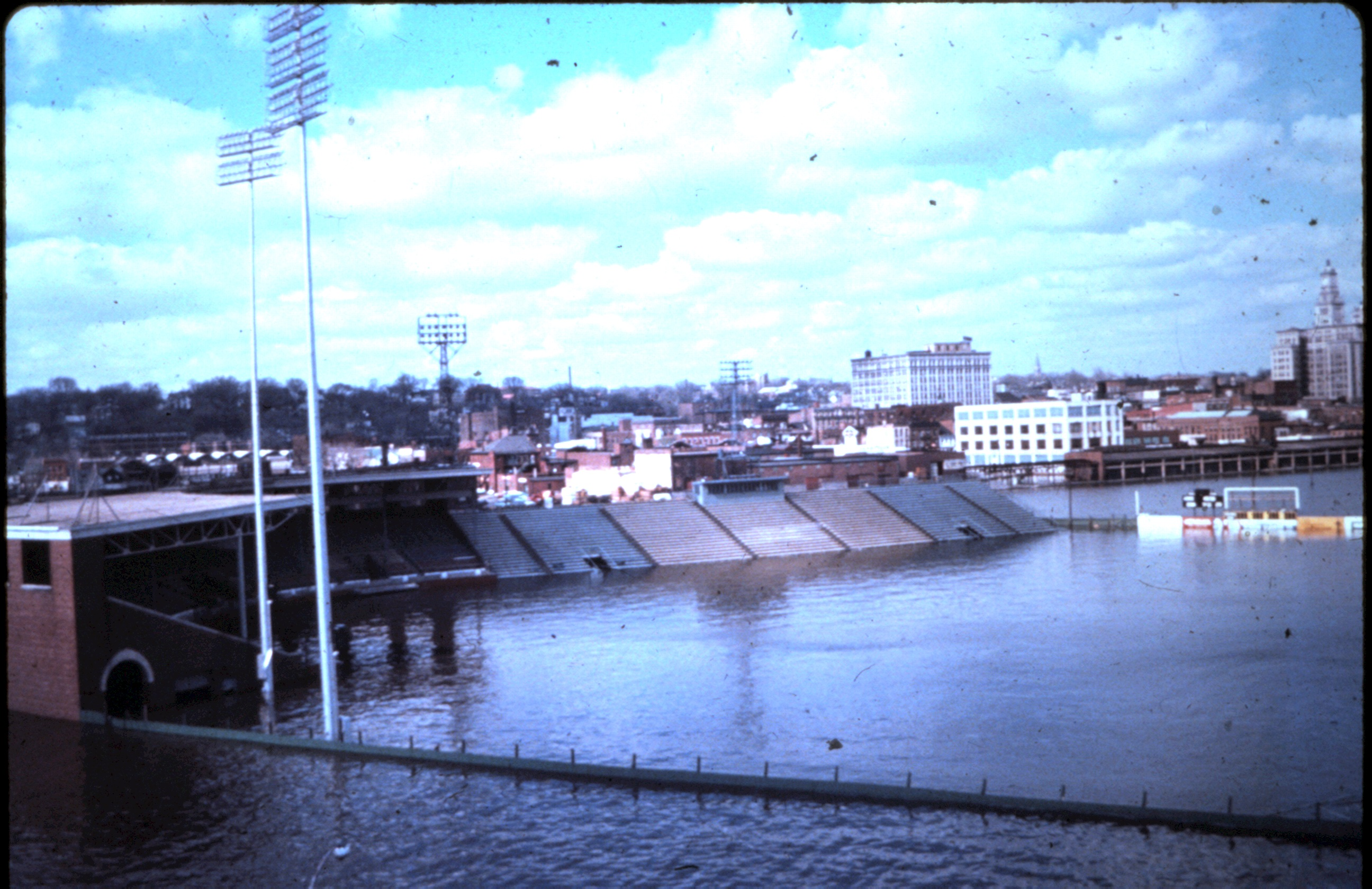 Davenport's Municipal Stadium, home of the Quad-City Angels, farm team of Los Angeles Angels.