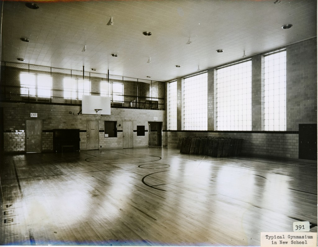 Gymnasium at Madison Elementary School, 116 East Locust Street, Davenport, Iowa. [c. 1940]
