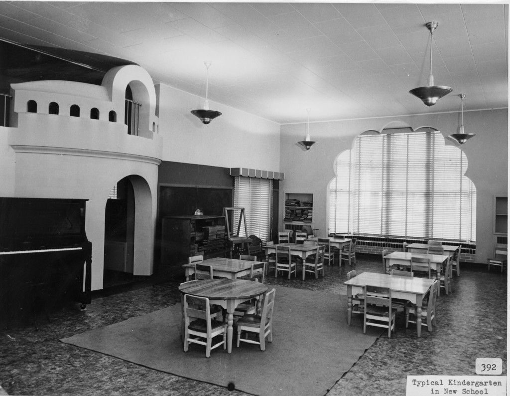 Kindergarten classroom in Madison Elementary School, 116 East Locust Street, Davenport, Iowa. [c. 1940]
