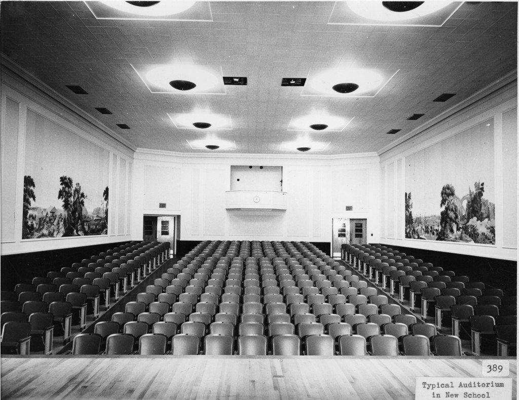 Auditorium at Madison Elementary School, 116 East Locust Street, Davenport, Iowa. [c. 1940]