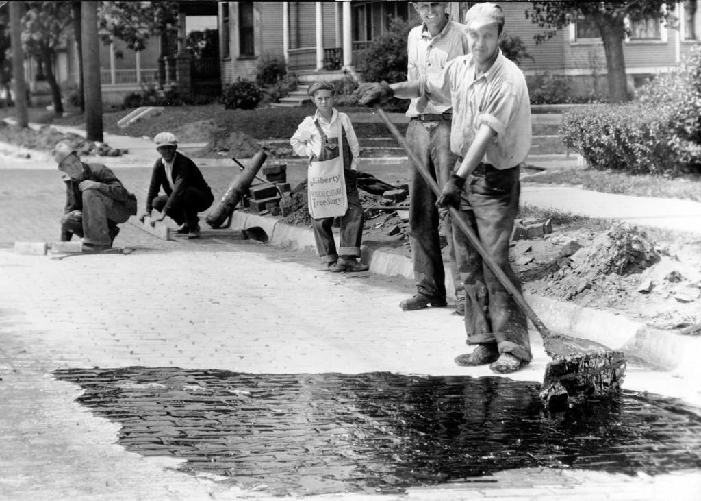Repair work on brick street – CWA [ca.1933]