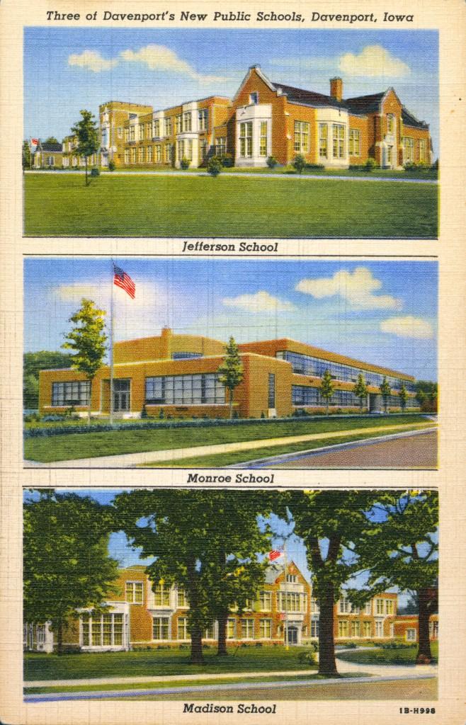 Jefferson school is at 1027 N. Marquette. Monroe School is at 1926 W. 4th St. Madison School is at 116 E. Locust. [c. 1940]