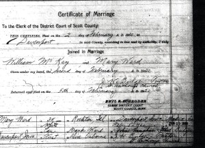 McKay Wedding License 2