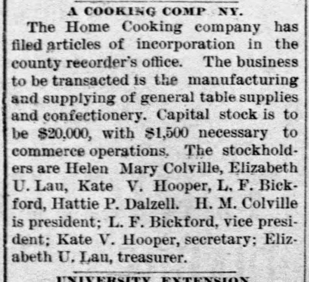 Women's Entrepreneurial Spirit: The Home Cooking Company